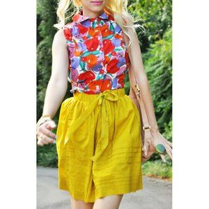 Anthropologie Odille 'Drawing Parallels' Skirt M